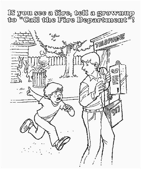 fire safety coloring pages  kids updated