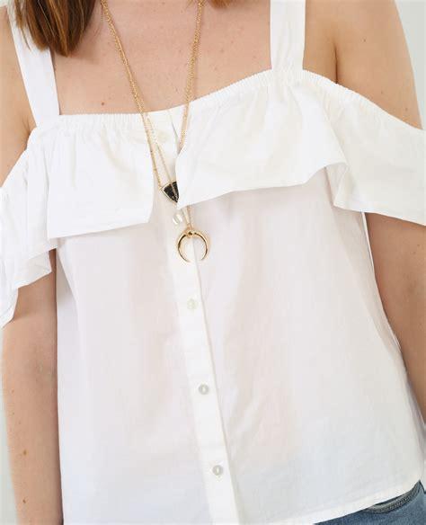 Camicie Con Volant Camicia Con Volant Bianco 561447905a09 Pimkie