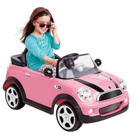 pink kid car best mini cooper ride on cars for kids