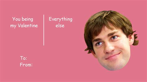 Valentine Card Meme - the office isms celebrate valentine s day with the office