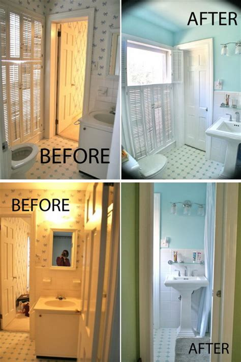 Before And After Small Bathrooms by Before And After 20 Awesome Bathroom Makeovers Hative