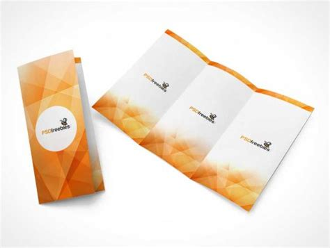 Tri Fold Outside Centre Panel Template Free Tri Fold Brochure Spread Psd Mockup Psd Mockups