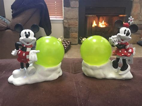 disney mickey minnie mouse lighted christmas ornament