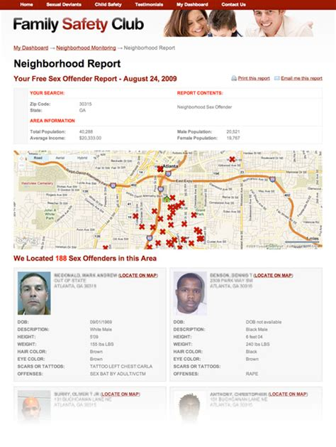 offenders in my area free report on offenders