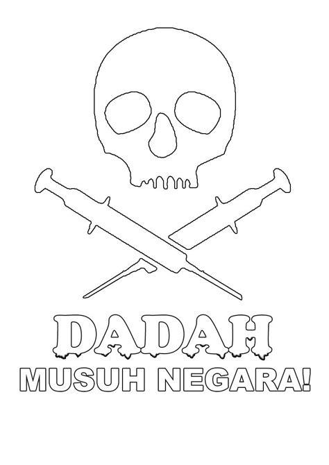 poster dadah musuh negara gambar mewarna