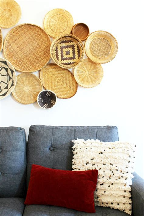wall basket decor ideas  inspiration child  heart blog