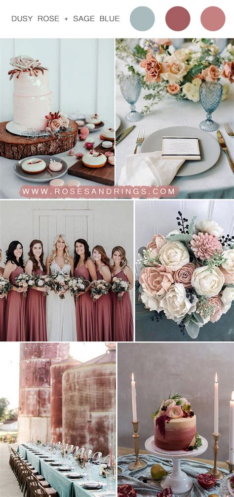 Top 9 Dusty Rose Wedding Color Palettes for 2020 Roses