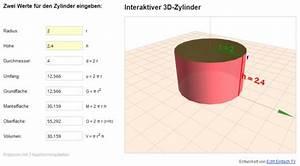 Mantelfläche Berechnen Prisma : k rper berechnen und darstellen zylinder oberfl che und volumen mathelounge ~ Themetempest.com Abrechnung