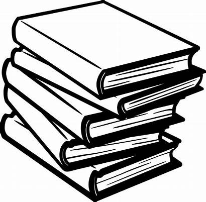 Books Clip Library Read Stack Clipart Reading