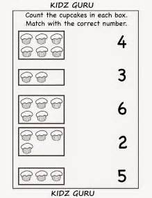 kindergarten worksheets printable worksheets count and match