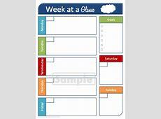 Week At A Glance Printable Calendar – Calendar Template 2019