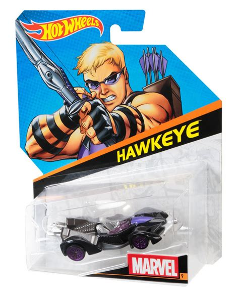 Hot Wheels® Marvel Character Cars  Hawkeye  Shop Hot