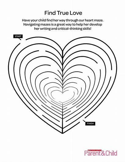 Maze Valentine Heart Printable Printables Parents Scholastic