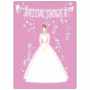 bride pink bridal shower invitations paperstyle With wedding shower