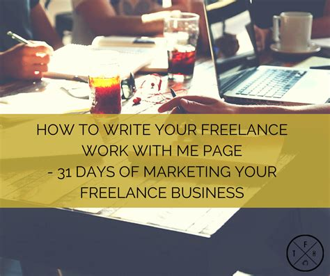 how to write your freelance work with me page