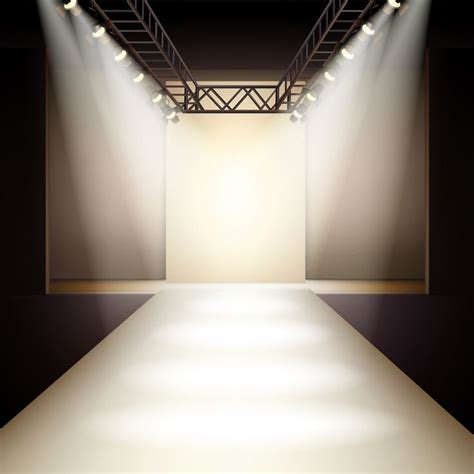 Empty Fashion Runway Podium Stage Interior   Fashion ...