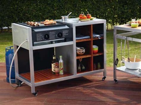 cuisine à la plancha gaz aménager une cuisine extérieure dans le jardin le