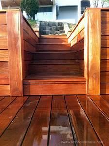 Escalier Extérieur En Bois : escalier marches bois sur mesure de terrasse en hauteur ~ Dailycaller-alerts.com Idées de Décoration