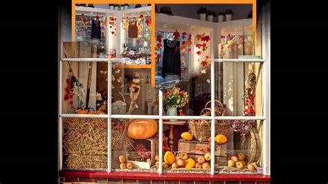 home decor ideas fall window display ideas