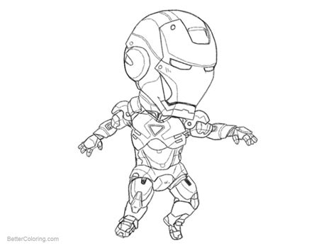 chibi iron man coloring pages printable coloring pages