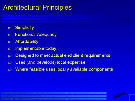 design principles architecture the architecture and design of the network part 1