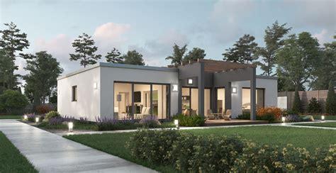 bungalow mit flachdach bungalow modern mit flachdach ytong bausatzhaus