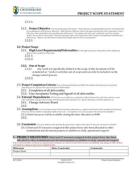 scope document project scope statement template v2 3