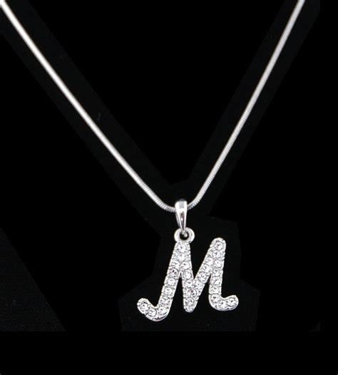 affordable bridal sets necklaces personalized necklace with letter m