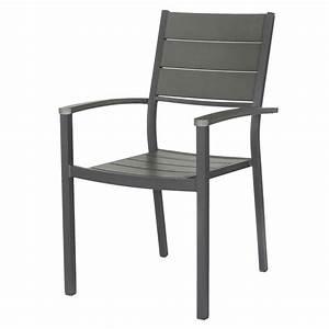 Fauteuil En Resine : fauteuil de jardin en r sine pratt gris leroy merlin ~ Teatrodelosmanantiales.com Idées de Décoration