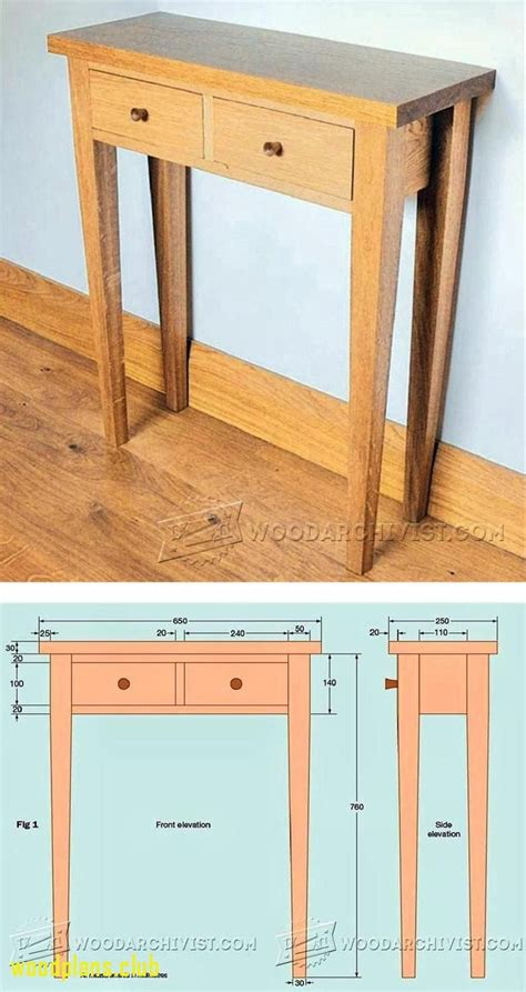 hall table plans woodworking plans  modern
