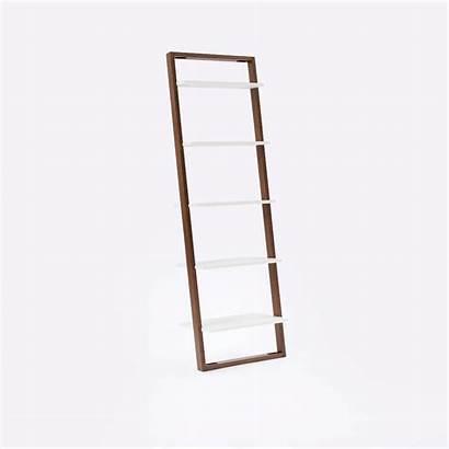 Ladder Wide Shelving Shelf Bookshelf Narrow Desk