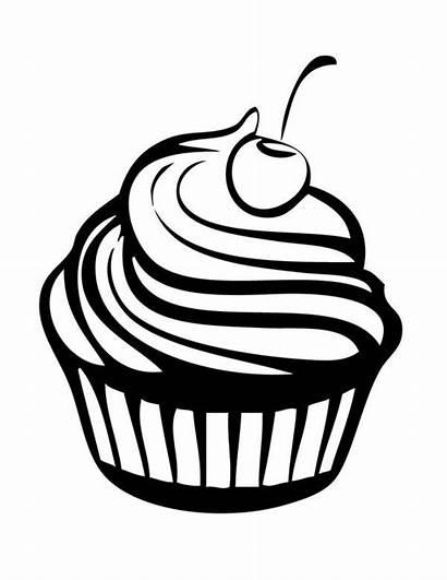 Coloring Cherry Cupcakes Cupcake Milkshake Netart Birthday