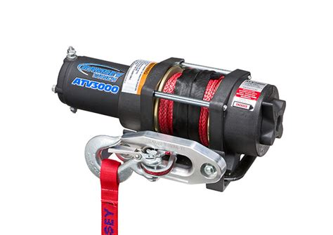 atv3000 w synthetic rope ramsey winch be mighty