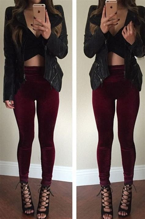 What to Wear With Burgundy Leggings