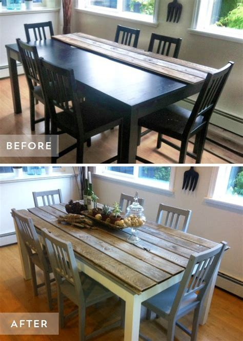 kitchen table top ideas 25 best ideas about dining table makeover on