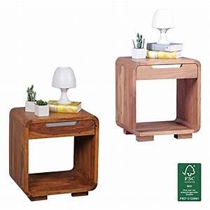 Besteckeinsatz Schublade 50 Cm : finebuy design nachttisch massivholz nacht kommode 50 cm mit schublade boxspringbett ~ Watch28wear.com Haus und Dekorationen