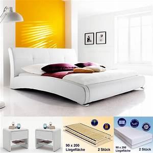 Polsterbett Weiß 180x200 : polsterbett amadeo 180x200 wei 2x nako flash rost matratze wohnbereiche schlafzimmer ~ Orissabook.com Haus und Dekorationen