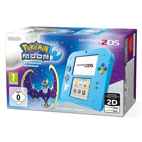 Nintendo 2ds Console by Nintendo 2ds Bleu Pok 233 Mon Lune Console Nintendo 3ds