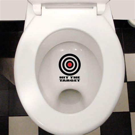 hit the target cool waterproof toilet lid wall sticker decal ebay