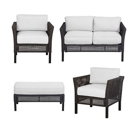 hton bay fenton 4 patio seating set with cushion