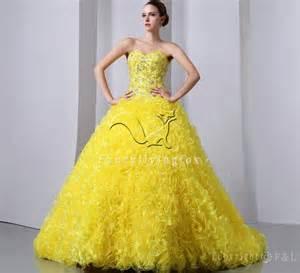 Pretty Yellow Wedding Dresses