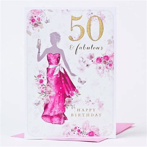 birthday card fifty fabulous  p