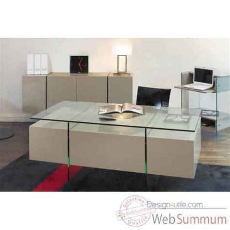 meuble bureau verre meuble ordinateur marais en pmma mr853 dans bureau design