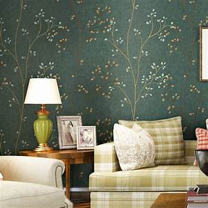 Home Style Tapete : 10 m country style wallpapers non woven flowers tree wall paper papel de parede tapete decor ~ Frokenaadalensverden.com Haus und Dekorationen