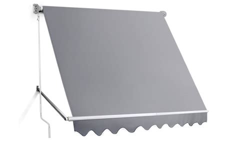 outdoor pivot retractable awning groupon