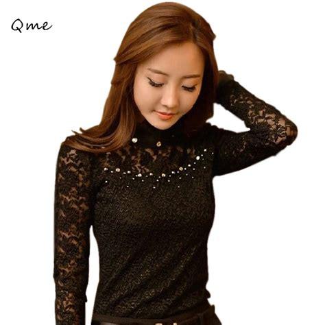turtleneck blouse aliexpress com buy lace blouses turtleneck blouse black