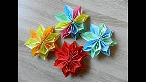 Origami Blumen Falten : origami blume falten diy origami flower youtube ~ Watch28wear.com Haus und Dekorationen