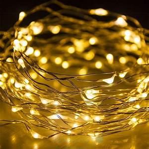 Lichtschläuche Lichterketten : 100 led draht lichterkette batterie micro silberdraht timer warmwei wasser in m bel wohnen ~ Eleganceandgraceweddings.com Haus und Dekorationen