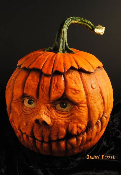 Scary Painted Pumpkin Faces