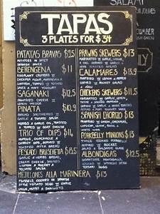 tapas menu template - tapas menu available from 3pm retail detail pinterest
